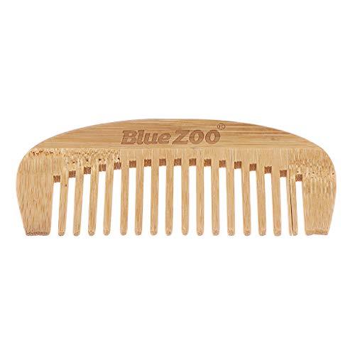 MagiDeal Peigne Cheveux en Bambou Naturel Femme Antistatique Brosses à Cheveux pour Cheveux Bouclés ou Raides, Longs ou Courts