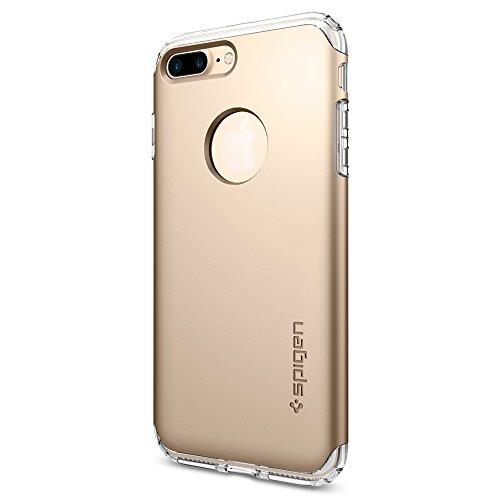 Coque iPhone 8 Plus, Spigen® Coque iPhone 7 Plus / 8 Plus [Hybrid Armor] AIR CUSHION [Or] Clear TPU / PC Dual Layer Premium Housse Etui Coque Pour iPhone 7 Plus / 8 Plus - (043CS20699)