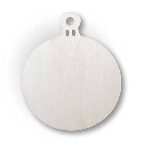 Sagome in legno a forma di palline per albero di Natale, decorazione natalizia per albero di Natale, 10 pezzi, 10 cm
