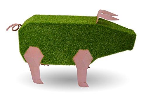 Mundus Gaston Le Cochon Décoration Origami, Vert/Rose