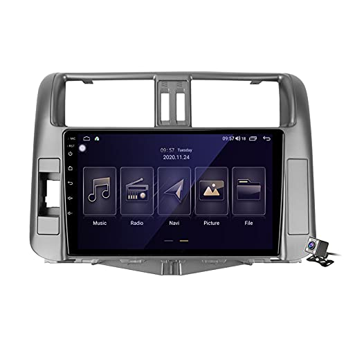 Gokiu Android 10 Autoradio Double DIN Car Stereo para Toyota Land Cruiser Prado 150 2009-2013 Soporta FM Am RDS DSP SWC 4G/5G WiFi/Unidad Principal De Navegación GPS/Carplay/Contiene Cámara,M150