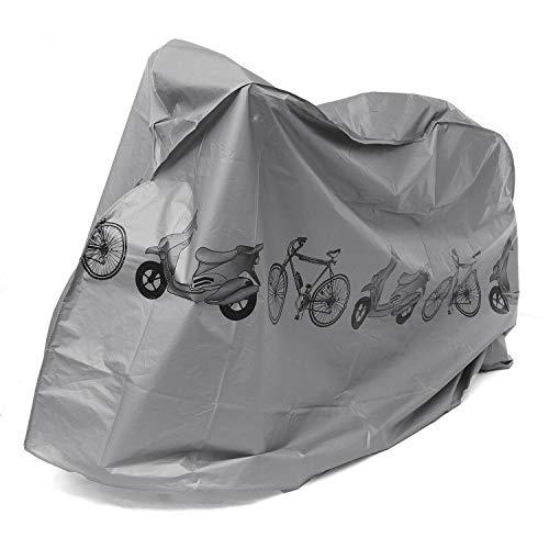 Housse VÉLo Pluie Protection VTT Exterieur ImpermÉAble Sac De Transport Pour Route Bache Value Pack, Velo Housse De Bike Bicyclette Moto Pour Anti UV Cyclisme Pour Homme Femme (1 Pack, Gris)