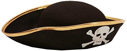 Sombrero de pirata para adulto, talla única.