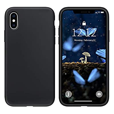 SOH Mingying Case for iPhone X Liquid Silicone Gel Rubber Phone Case,iPhone X 5.8 Inch Full Body Slim Soft Microfiber Lining Protective Case