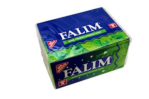 FALIM Kaugummi ohne Zucker. Mit Minzgeschmack in der BOX (100 Stück/140g)