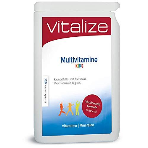 Vitalize Multivitamine Kids 120 kauwtabletten - Kauwtabletten met fruitsmaak (Lactosevrij!)