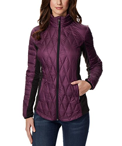 32 DEGREES Ladies' Mixed Media Down Jacket (Purple, Small)