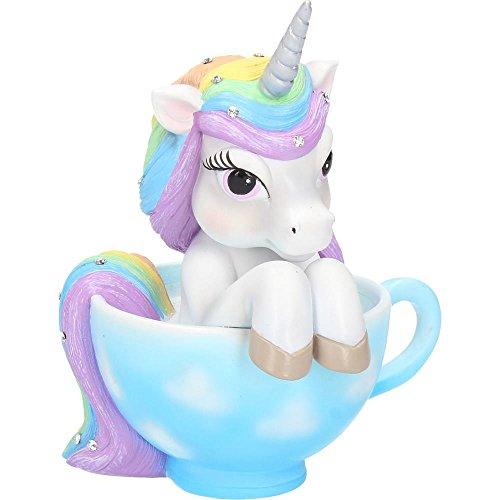 Nemesis Now Cutiecorn - Figura Decorativa de Unicornio en Forma de Taza de té, Color Blanco, Talla única
