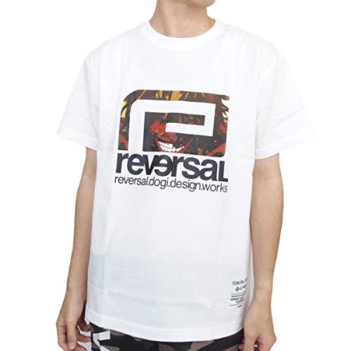[リバーサル] REVERSAL Tシャツ 半袖 KENGANASHURA BIG MARK TEE ケンガンアシュラ コラボ 十鬼鉈王馬 [RVKA001] M WHITE