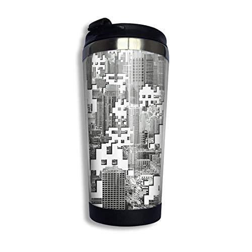 Yaxinduobao Space Invaders Taza de viaje Taza de café Vaso aislado al vacío de acero inoxidable 13.5 oz