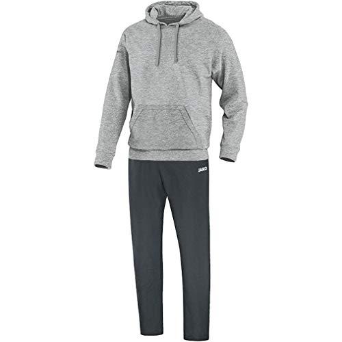 JAKO Herren Team mit Kapuzensweat Jogginganzug Freizeit, grau meliert, XL