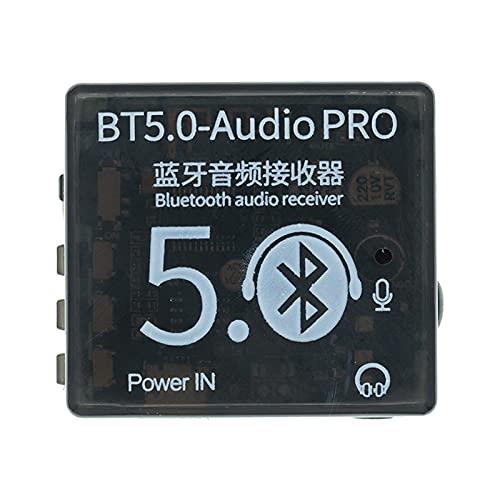 YSJJEFB Interruptor Mini Bluetooth 5.0 Tablero de decodificador Receptor de Audio BT5.0 Pro MP3 Reproductor sin pérdidas Módulo de Amplificador de Música Estéreo Inalámbrico con Estuche relé