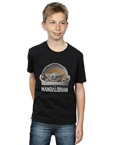 Star Wars Jungen The Mandalorian The Child Pod T-Shirt Schwarz 12-13 Years