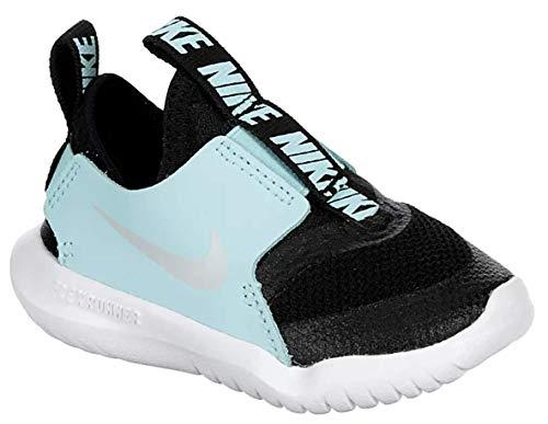 Nike Kids Flex Runner (para bebés/niños), negro/platino puro , 12 MX Niño