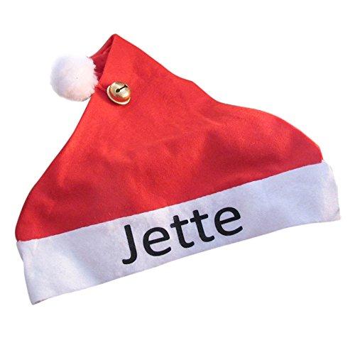Weihnachtsmütze mit Namen - rote Mütze mit Bommel und Glocke für Erwachsene & Kinder -Weihnachts- oder Nikolausgeschenk, Adventskalenderfüllung, Dekoration & Verkleidung zu Weihnachten, Geschenkidee