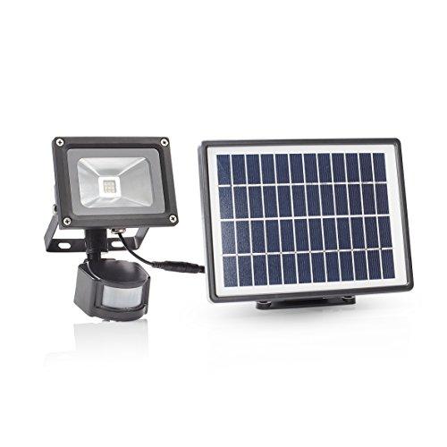 Smartwares SFL-180-MS Lámpara solar de seguridad con doble sensor Proyector LED Movimiento, Black, 22.4 x 11 x 17 cm