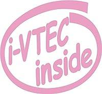 カッティングステッカー i-VTEC inside (2枚1セット) 約88mmX約95mm ピンク 桃