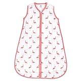 Yoga Sprout Unisex Baby Sleeveless Cotton Sleeping Bag, Sack, Blanket, Flamingo Muslin 1-pck, 6-12 Months US