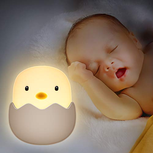 BICASLOVE Luz Nocturna Bebé, LED Silicona Lámpara de