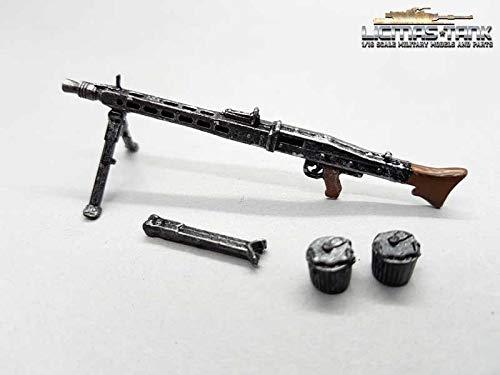 1/16 MG 42 deutsches Maschinengewehr Set Wehrmacht WW2 Metall lackiert