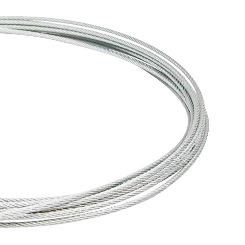 American Lighting LS-CABLE-110 Support Cable Kit, 110-Foot Cable, 2-Cable Locks and 1-Cable Release Key, Supports Loads Up to 200-Pounds, Galvanized