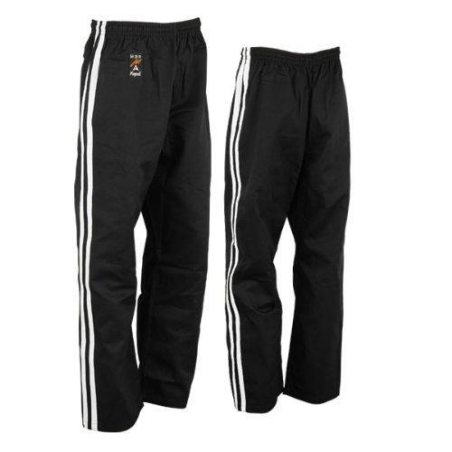 Playwell Full Contact Kickboxing 100% Pantaloni Cotone - Nero, 2/150CM