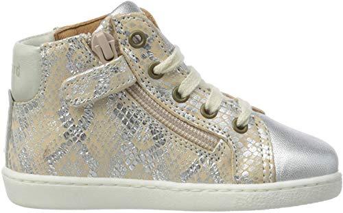Bisgaard Gaia Hohe Sneaker, Silber (Silver Snake 2300), 39 EU