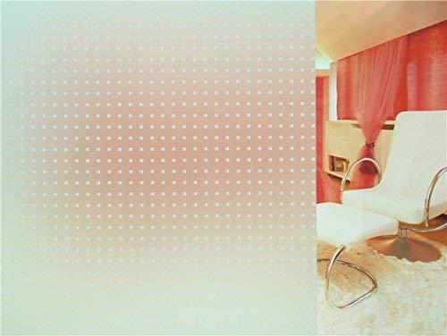 Tamia-Home - Pellicola per Finestra P018, autoadesiva a Pois, Bianco Trasparente, 90 * 150cm
