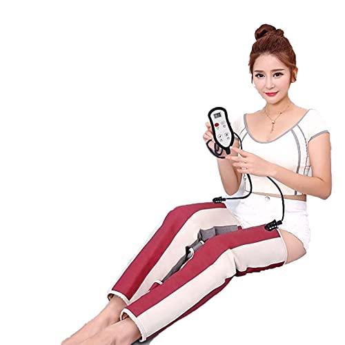ALLWIN Masajeador de piernas de compresión de Aire eléctrico Recargable Completamente Envuelto Alivia la Fatiga Muscular de la Pantorrilla Masaje de relajación