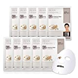 DERMAL Pearl Collagen Essence Facial Mask Sheet 23g Pack of 10 - Clarify Skin, Skin Smooth, Daily Skin Treatment Solution Sheet Mask