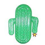QXM Cactus Inflable Flotante Adulto de Agua Tumbona Natación Anillo de Montaje Grande,Green