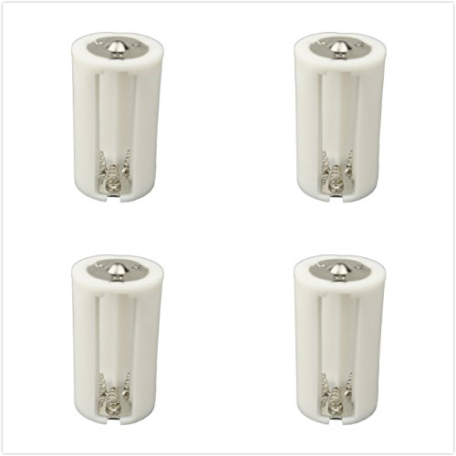 DSLRKIT 3AA(LR6) to D Size Parallel Battery Convertor Adapter Holder (Pack of 4)