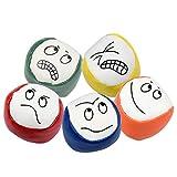 Hentek 10PCS Balles de Jonglage Enfant, Certifiées CE Balle Anti Stress Emoji, Jouets à Lancer pour Débutants Garçons Filles Adultes