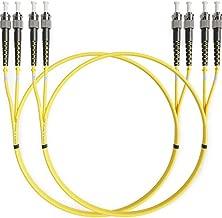 ST to ST Fiber Patch Cable Single Mode Duplex - 2m (6.56ft) - 9/125um OS1 LSZH (2 Pack) - Beyondtech PureOptics Cable Series