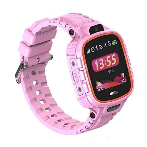 PRIXTON - Reloj GPS niños/Reloj Digital para niños con GPS, Botón SOS, Ranura para SIM Que Permite Llamadas y Mensajes, Alarma por limitación geográfica y Cámara de Fotos, Rosa | G300