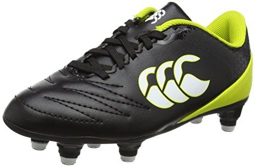 Canterbury Boys Stampede 2.0 Soft Ground Rugby Boots, Black (Black), 13 UK (32 EU)