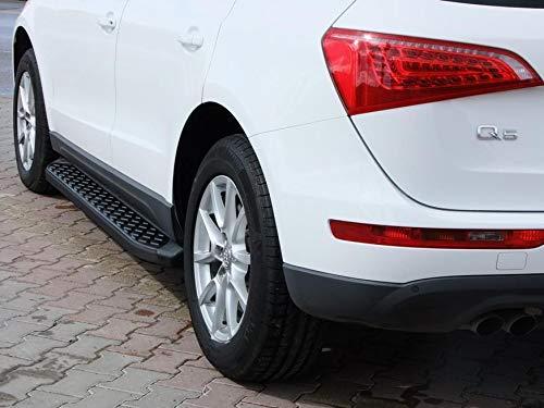 Trittbretter passend für Audi Q5 ab Baujahr 2008-2016 Model Hitit in Schwarz mit TÜV und ABE