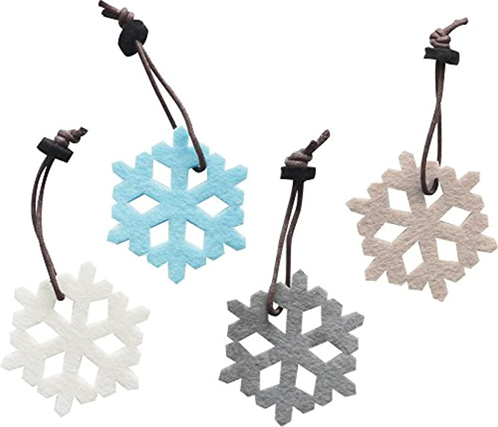 ピジンカビ生む現代百貨 雪の結晶 オーナメント クラシカルクリスマス SET4 スノー K714SU