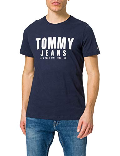 Tommy Jeans Tjm Center Chest Tommy Graphic T-Shirt, Twilight Navy, S Uomo