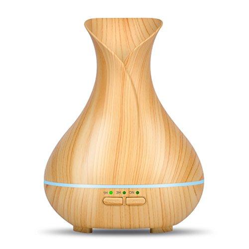 OliveTech Mini Aroma Essential Oil Diffuser, 150ml Wood Grain...