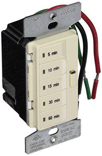 Eaton PT18MLA 1800W 15 Amp 5Button Minute Timer with Off SinglePole Light Almond
