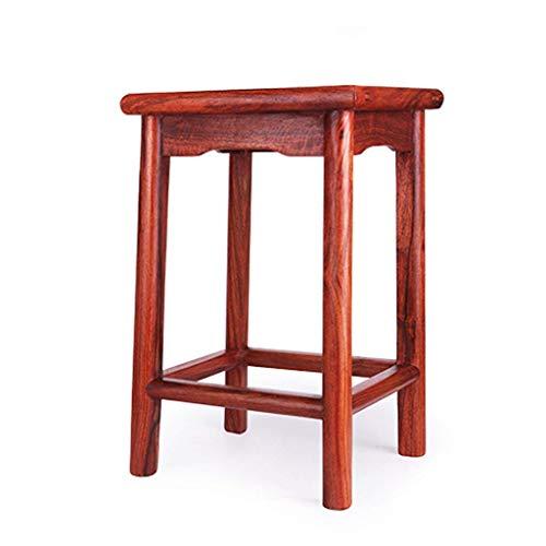 DX Bad Hocker Palisander quadratischen Hocker Redwood Tisch Hocker kleine Wohnung Home Dining Stuhl Erwachsene Fußhocker aus Holz rutschfeste Bad Hocker (Größe: 30 * 30 * 48 cm)