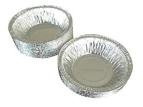 Durable Packaging 4-7/8' Foil Tart Pan (Durable 5' #2200) - Mini Aluminum Pot Pie Baking Plate Tin (pack of 25)