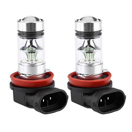 2x H8 H11 8000K Ice Blue 100W LED Kit de bombillas de faros antiniebla Luz de conducción de automóviles