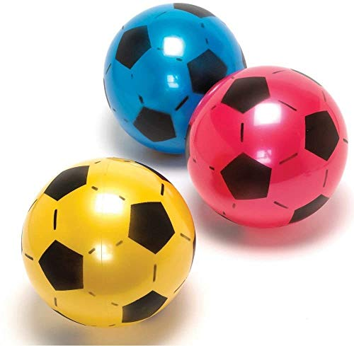 PoundSaver ® Soft Lightweight PVC Plastic Shoot Soccer Football Play...
