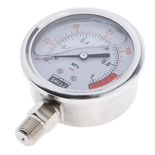 perfk Druckmesser Manometer Druckprüfer Luftdruckmessgerät für Druckminderer Wasserfilter - wie beschreibung, 1MPa