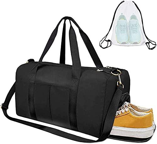 Bolsa de gimnasia seca y húmeda separada bolsa de equipaje de gimnasia deportiva bolsa de gimnasia bolsa de yoga viaje nocturno bolso de hombro de fin de semana gabinete de zapatos