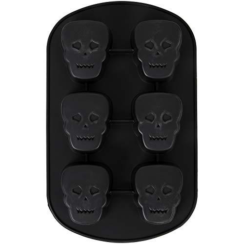 Wilton Halloween Skull Non-Stick Silicone Mold, 6-Cavity