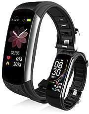 スマートウォッチ スマートブレスレット IP67防水 運動腕時計 カラースクリーン 長い待機時間 著信電話通知/SMS/Twitter/WhatsApp/Line/アプリ通知 長座注意 日本語説明書 最高の贈り物