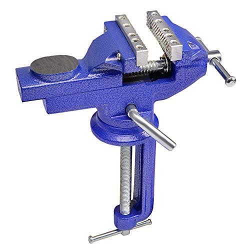 Multifunktionaler Schraubstock, 360 Grad Drehbarer Tischschraubstock Aus Gusseisen Mit Amboss-Fähigem Klemmen,Table clamping range 103mm